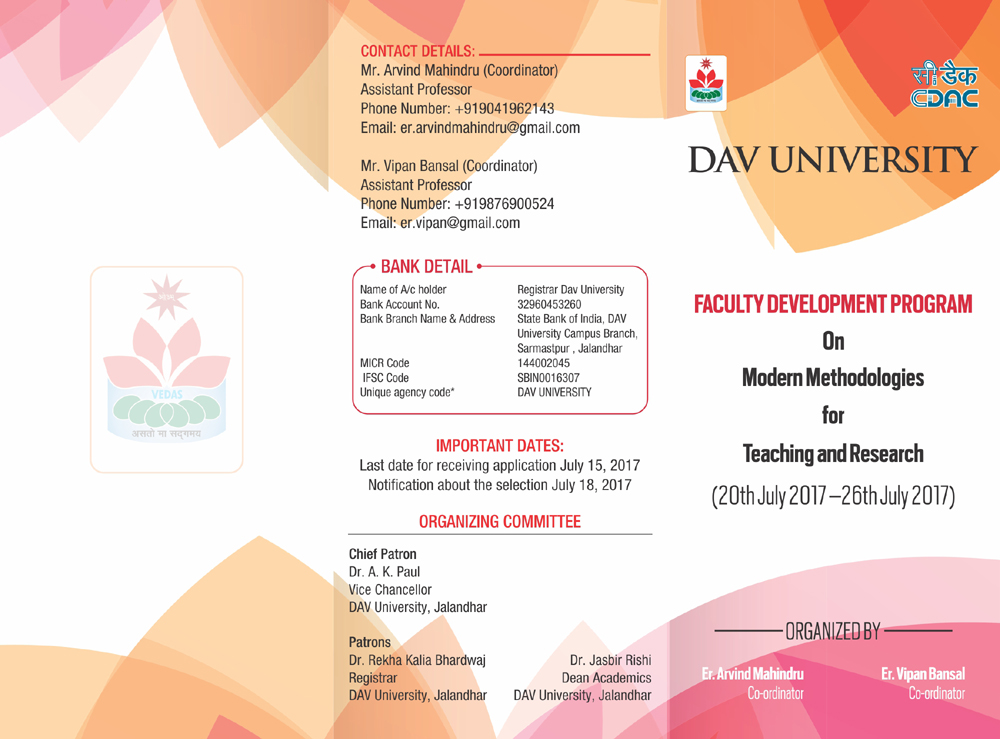 """FDP on """"Modern Methodologies for Teaching and Research"""""""